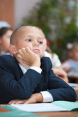 Schoolboy in concentration. — Stock Photo