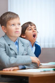 Boring lecture. Sweet Yawn! — Stock Photo