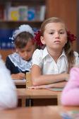 Pretty schoolgirl. Real lesson — Stock Photo