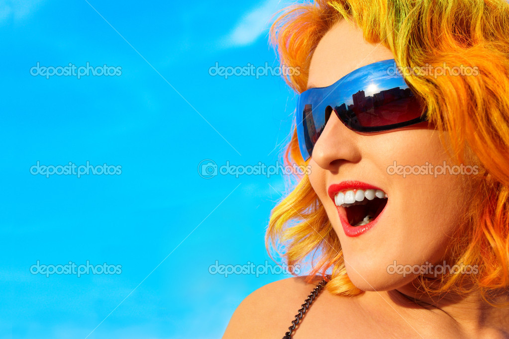 Happiness Attractive girl — Stock Photo #1406579
