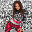 Attractive zebra girl — Stock Photo #1542160