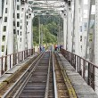 Stock Photo: Through-girder railway bridge