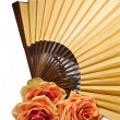 Royalty-Free Stock Photo: Fan and rose