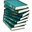 Heap of books of green color — Stock Photo