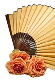 Fan and rose — Stock Photo