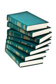 Heap of books of green color — Stockfoto