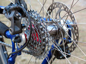Mountain Bike rear wheel — Stock Photo