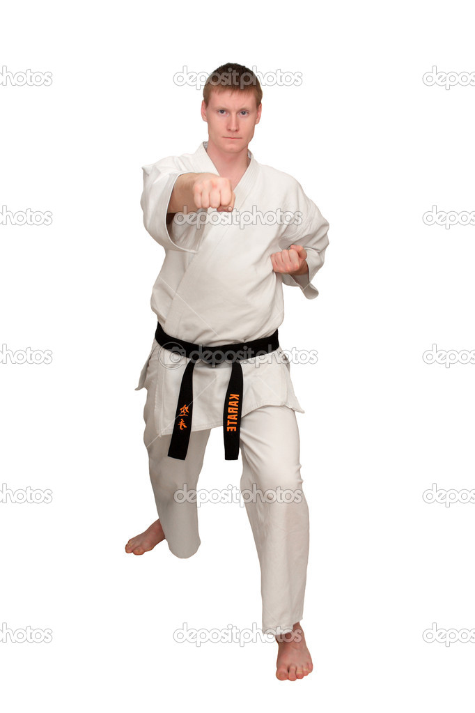 The master of oriental combat sports is isolated on a white background  Stock Photo #1732728