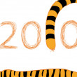 Tiger 2010 Neujahr — Stockfoto