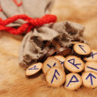 Runes with pouch — Stock Photo