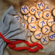 Stock Photo: Runes close-up