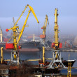 Harbour in mist — Stock Photo #1436202