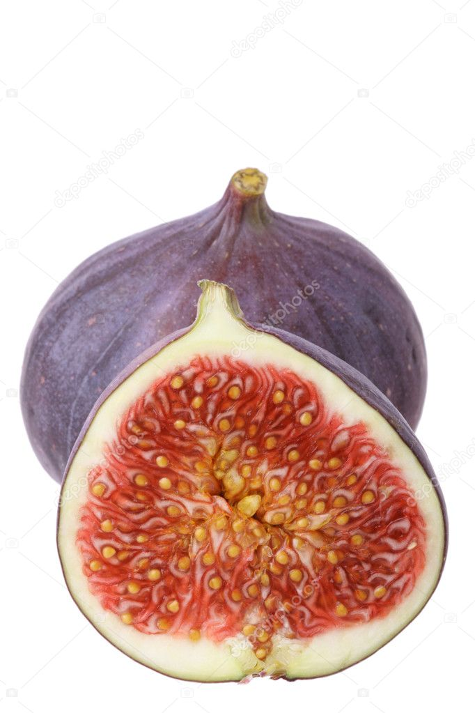 Fresh figs isolated on white background — Stock Photo #1432684