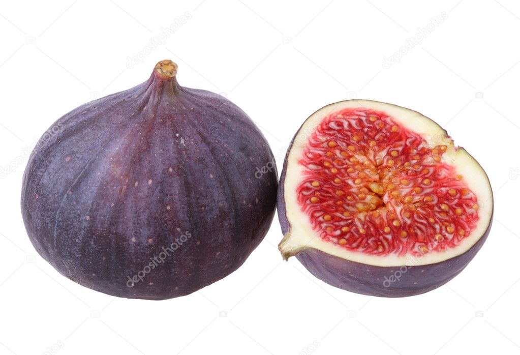 Fresh figs isolated on white background  Stock Photo #1432710