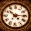 Old wooden clock — Stock Photo