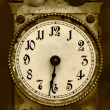 Old iron clock — Stock Photo