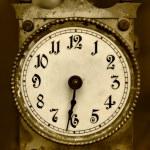 Old iron clock — Stock Photo