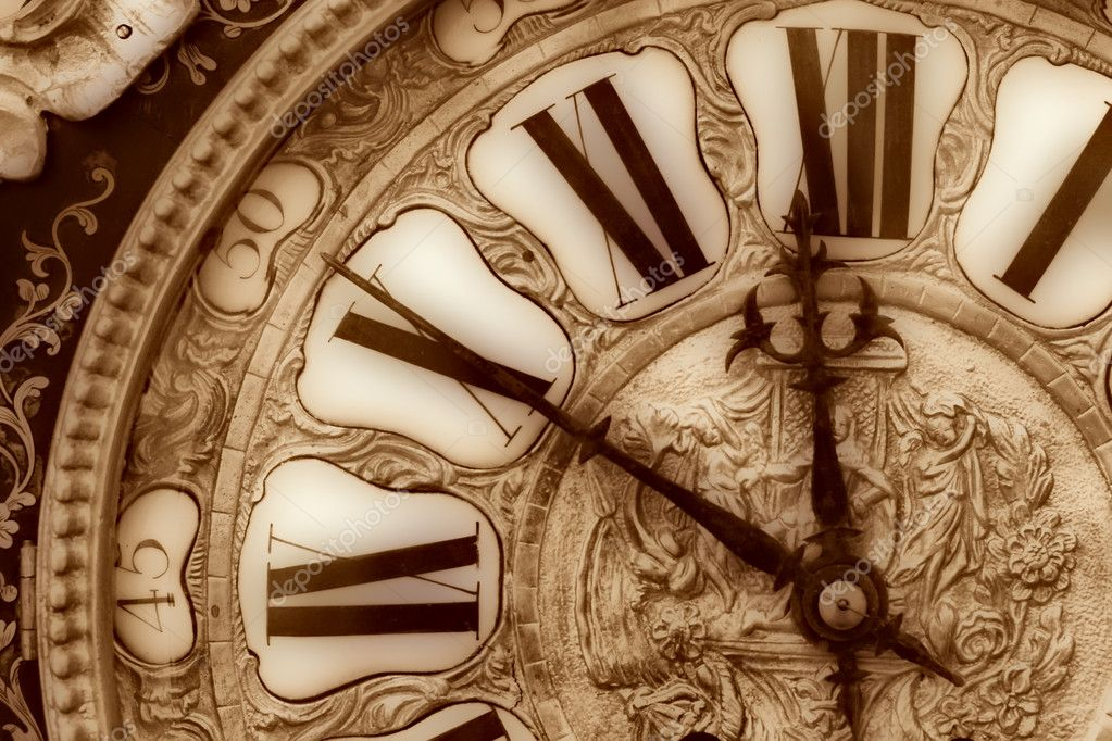 Close-up of antique clock of the eighteen century — Stock Photo #1447521