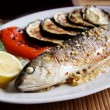 Grilled fish - Stock Photo