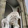 Royalty-Free Stock Photo: Marble lion by the Vorontsovsky palace