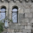 Fragment of old castle wall - Stock Photo