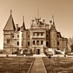 Massandra palace sepia toned — Stock Photo