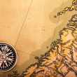 Compass on old map — Stock Photo #1745814