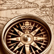 Compass on old map — Stock Photo #2027279