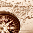 Compass on old map — Stock Photo #2027293