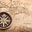 Compass on old map — Stock Photo #2027439