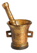 Old bronze mortar — Stock Photo