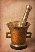 Old bronze mortar — Stock Photo