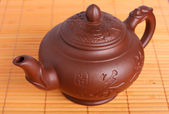 Clay teapot — Stock Photo