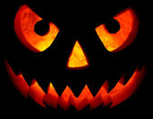 Halloween pumpkin on black — Stock Photo