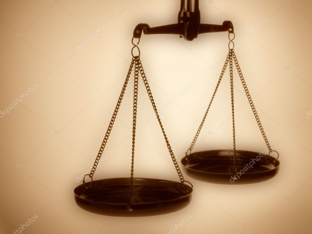 Justice scales sepia toned — Stock Photo #2029712