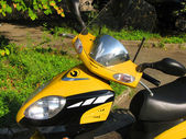 Yellow moped — Stock Photo