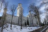 Neuschwanstein castle facade — Stock Photo