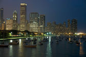 Nacht chicago — Stockfoto