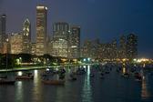 Night Chicago — Stock Photo