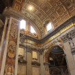 Stock Photo: Inside cathedral of St. Peter in Vatican