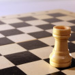Stock Photo: Chess castle close-up