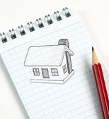 House sketch — Stock Photo