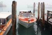 Motor boat in bunder — Stock Photo