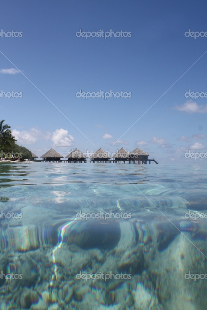 Water villa in tropical sea — Stock Photo #1526034