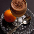 Creamy chocolate orange dessert — Stock Photo