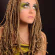 Girl with bright makeup - Stockfoto