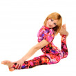 Gymnast in the bright stage costume - Stock Photo