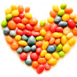 Stock Photo: Heart made of colored candies