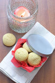 Cookies in a round box — Stock Photo