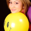 Girl with balloon - Stock Photo
